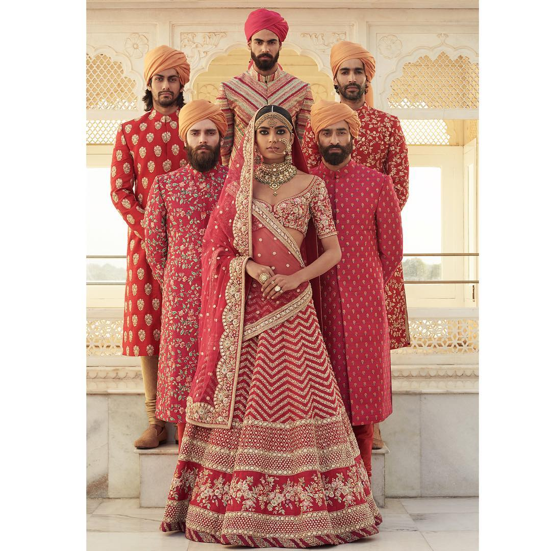 Summer Wedding Ensemble Inspiration By Sabyasachi Mukherjeee