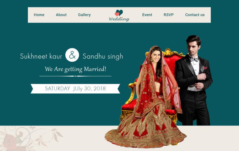 Online Wedding Invitation Card Samples