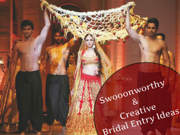 Swooonworthy & Creative Bridal Entry Ideas