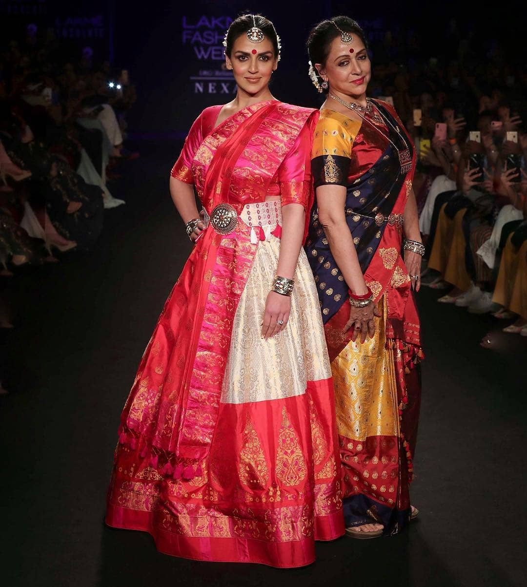 Esha Deol & Hema Malini at KFW2018