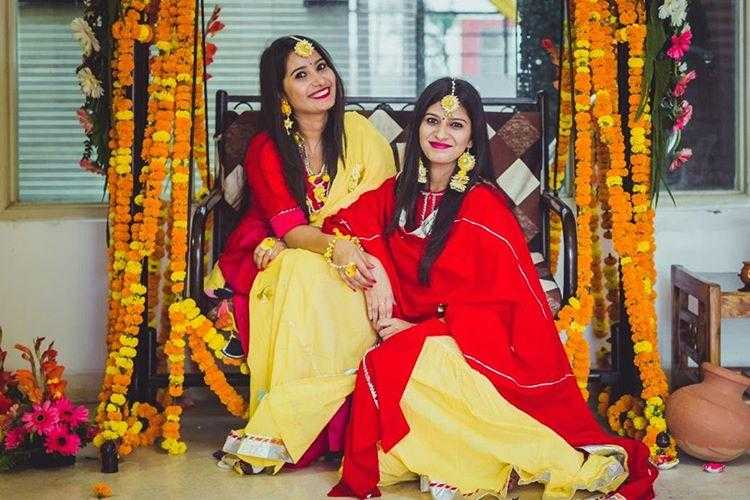 Co-ordinated Sangeet Outfits - Sisters Goals