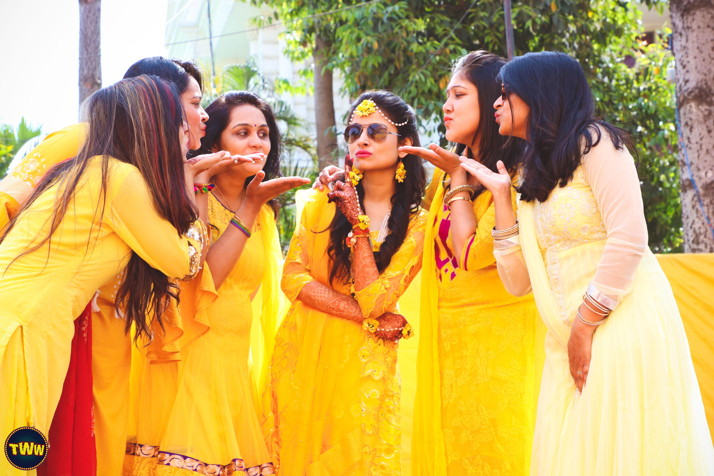 Bride Squad for haldi