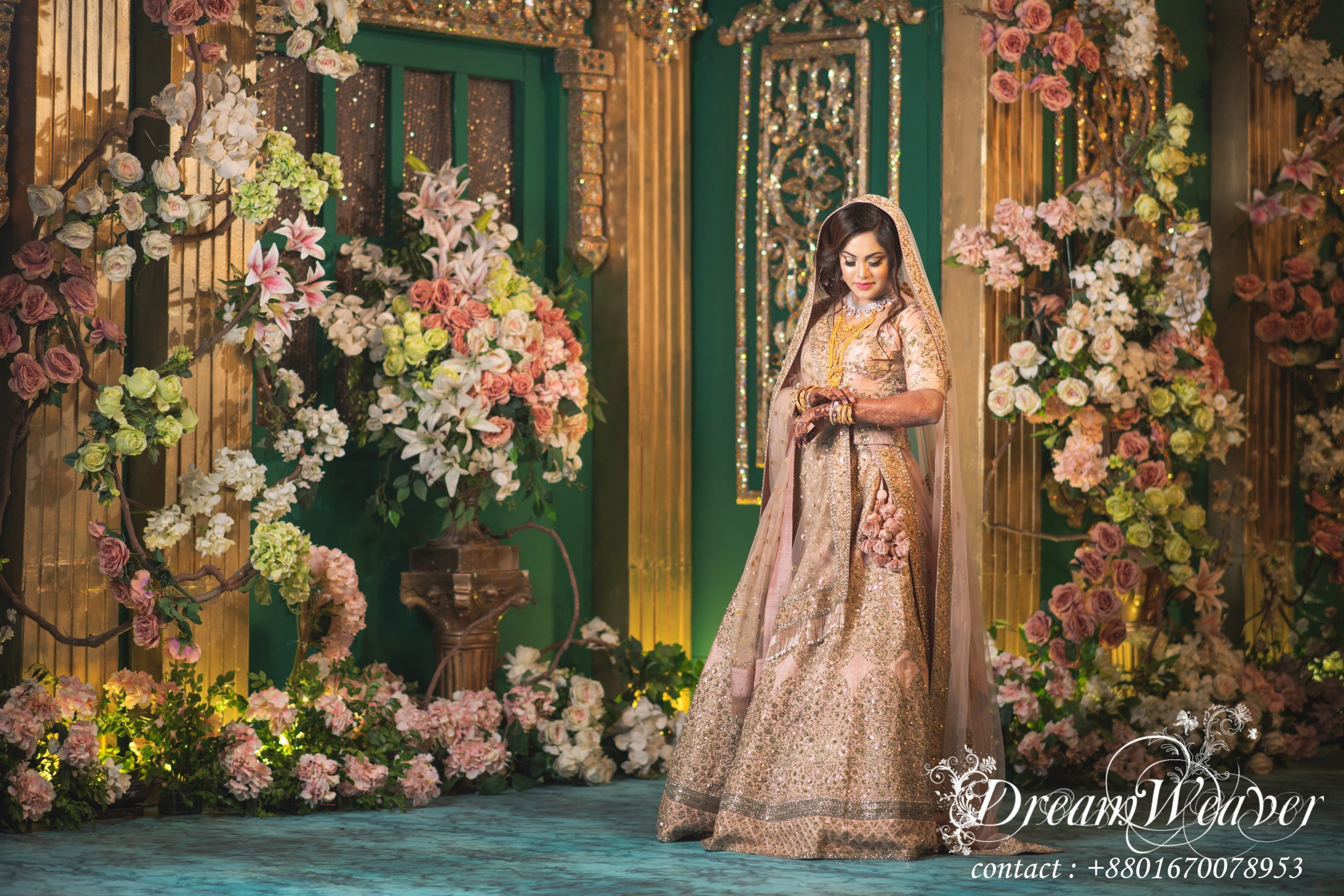 Royal Muslim Wedding Portraits of Bride