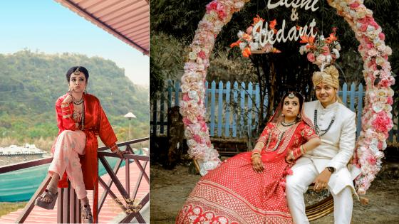 Beautiful Dehradun wedding with a chirpy bride in red lehenga
